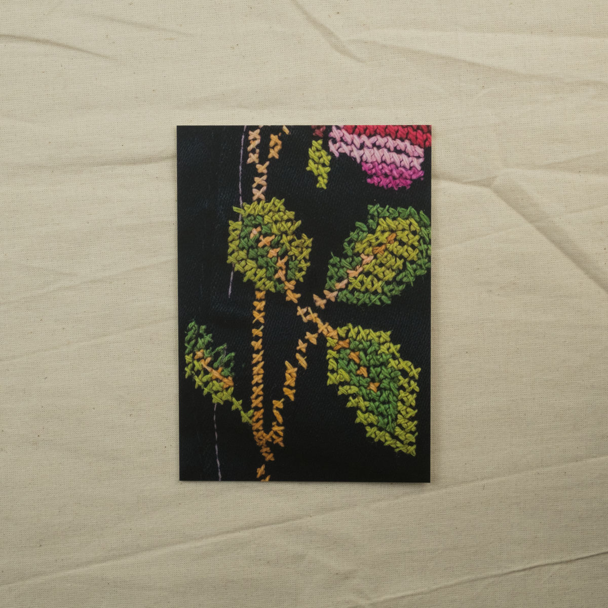 Leaf detail - Palestinian embroidery postcard - product images  of