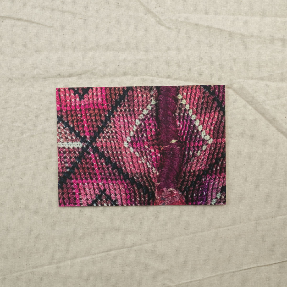 Burqa detail - 2 - Palestinian embroidery postcard - product images  of