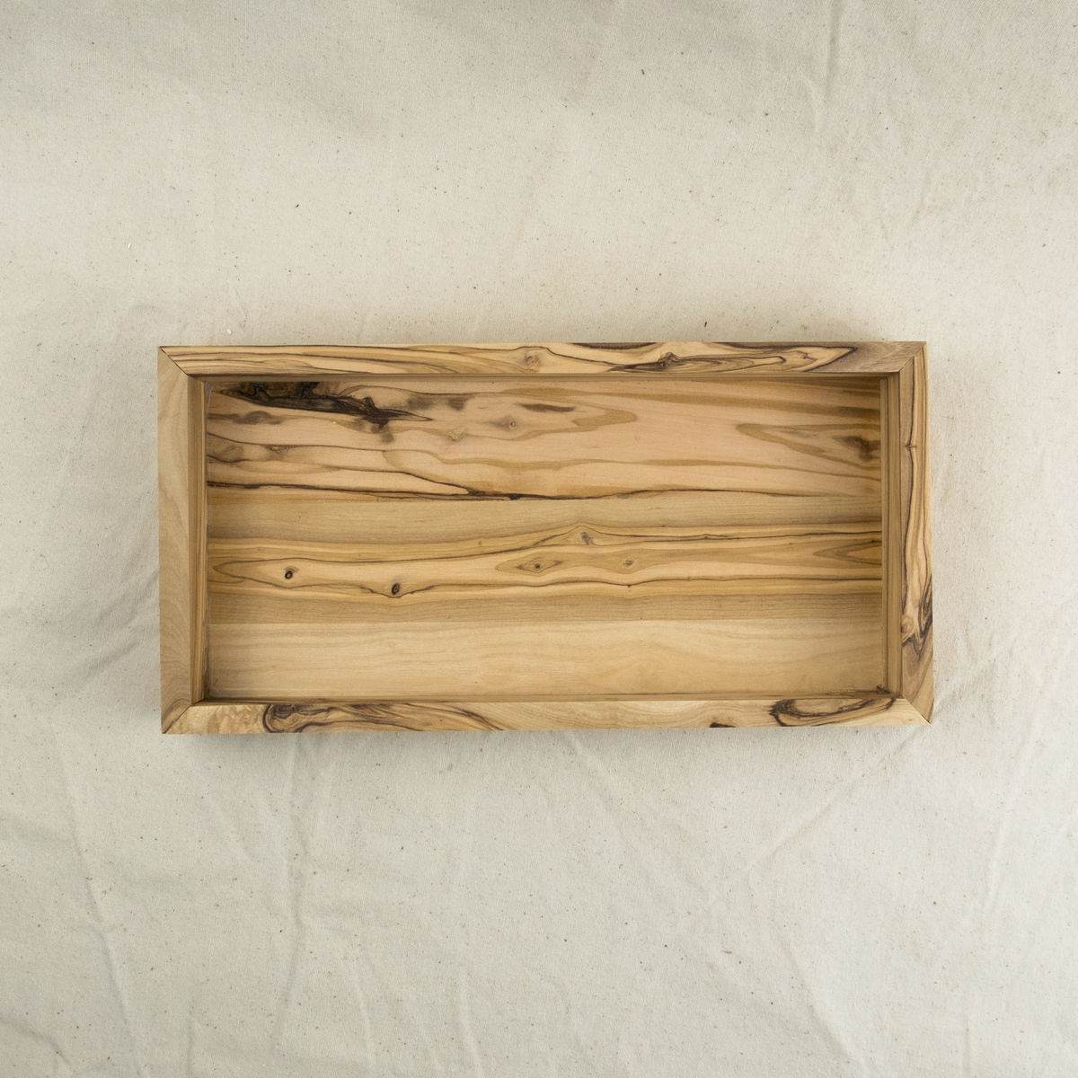 Multi purpose olive wood tray - Handcrafted in Palestine - product images  of
