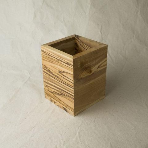 Multi Purpose Olive Wood Container El Bustan