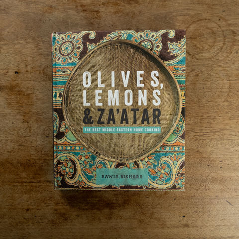 Olives,,Lemons,and,Za'atar:,The,Best,Middle,Eastern,Home,Cooking,-,Rawia,Bishara,Book, cookbook, middle eastern, Palestinian, Nazareth, Olives Lemons and Za'atar, Home Cooking, Rawia Bishara, mezzo, tabbouleh, mediterranean food, Palestinian food