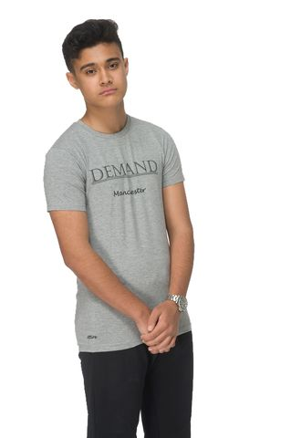Demand,Manchester,Grey,Tee, T-Shirt, Demand Attire, Demand Attire Tee, Demand Manchester Top, Demand Manchester Tee, Demand Manchester T-Shirt