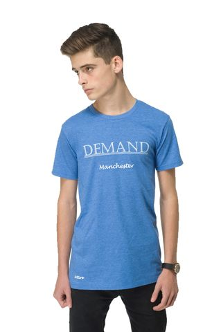 Demand,Manchester,Blue,Tee, T-Shirt, Demand Attire, Demand Attire Tee, Demand Manchester Top, Demand Manchester Tee, Demand Manchester T-Shirt