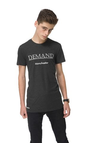 Demand,Manchester,Black,Tee, T-Shirt, Demand Attire, Demand Attire Tee, Demand Manchester Top, Demand Manchester Tee, Demand Manchester T-Shirt