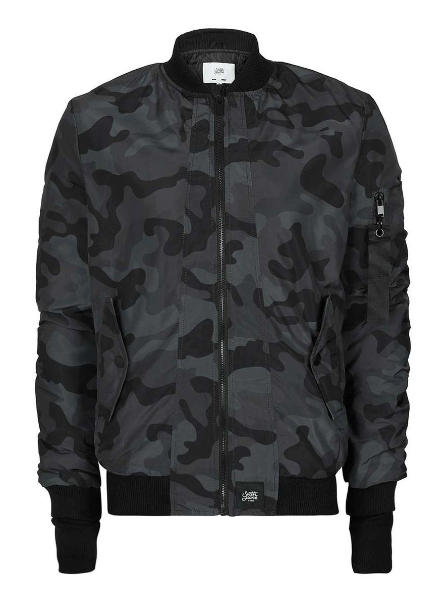 Sixth June Black Camo Bomber Jacket Demand Attire