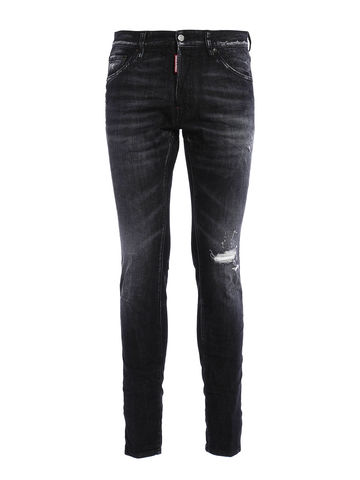 DSQUARED2,Black,Denim,Distressed,Jeans,Desquared mens jeans, Desquared black jeans, Desquared mens clothing, Desquared jeans, Desquared distressed jeans, Desquared2 black denim jeans, Desquared2 jeans