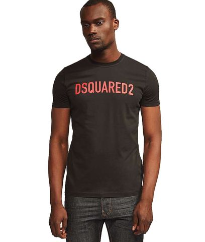 Dsquared2,Clean,Logo,Black,T-Shirt,Dsquared2 Clean Logo Black T-Shirt, Dsquared2 t-shirt, Dsquared2 tee, Dsquared2 top, Dsquared2 red top, Dsquared2 red tee, Dsquared2 red t-shirt, Dsquared2 black tee, Dsquared2 black top, Dsquared2 black t-shirt