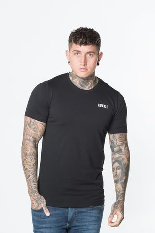 Level,1,Essential,Tee,Black,level 1 clothing, level 1 essential black tee, level 1 essential black top, level 1 top, level 1 tee, level 1 t-shirt