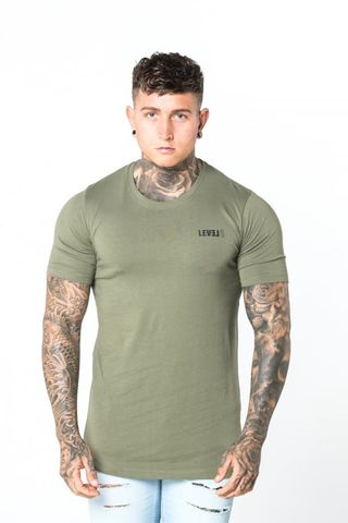 Level,1,Essential,Tee,Khaki,level 1 clothing, level 1 essential khaki tee, level 1 essential khaki top, level 1 top, level 1 tee, level 1 t-shirt