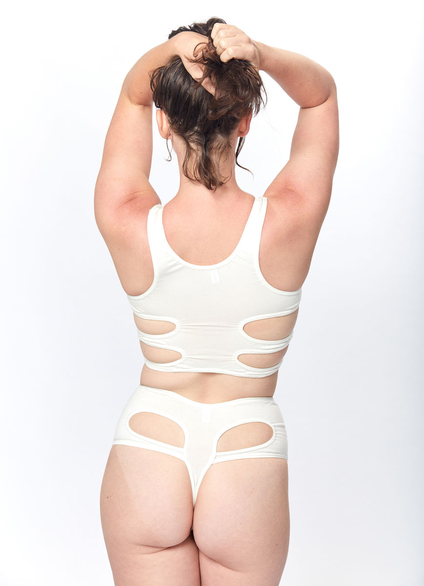 Ribs Bra (White) - product images  of