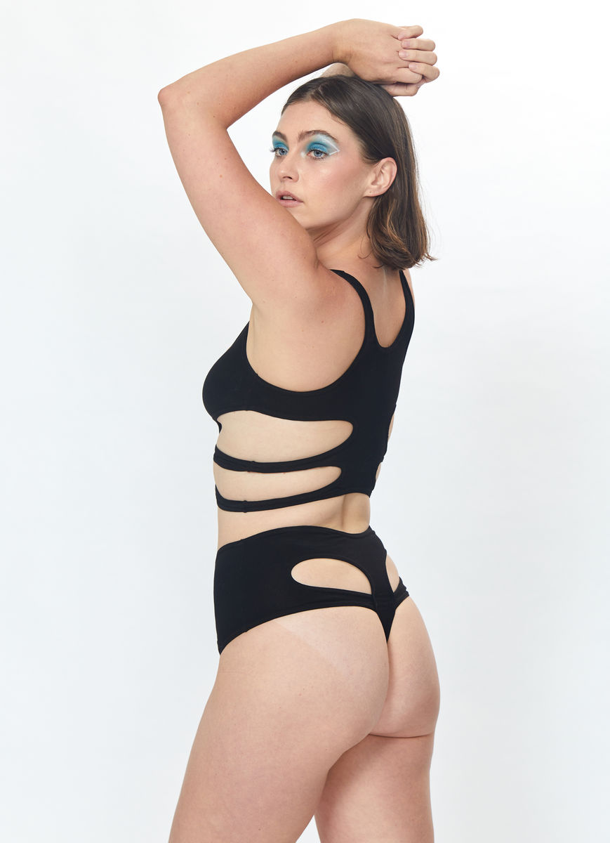 Ribs Bra (Black) - product images  of