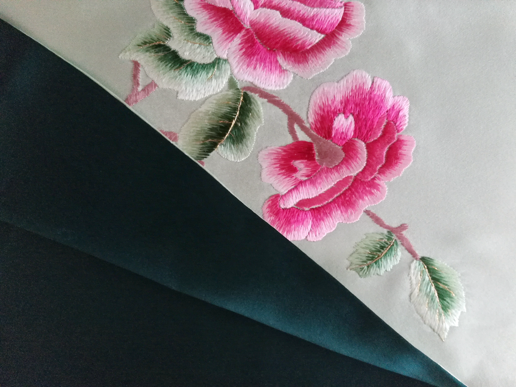 gl hand embroidery scarf - product images  of