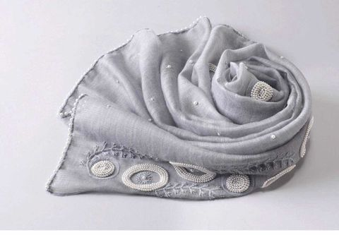 luxury,wool&,silk,scarf,grey wool scarf
