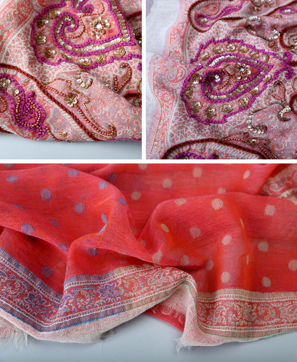 Sunshine Hand Jacquard Wool Scarf - product images  of