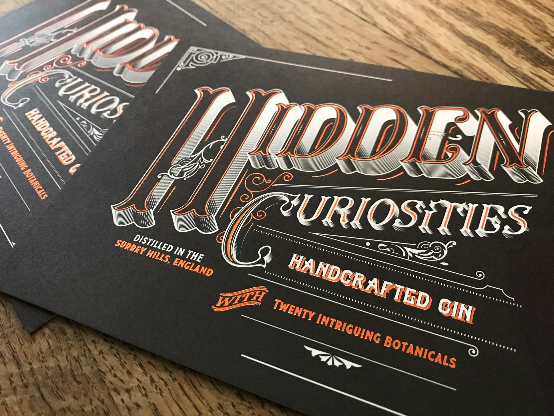 Hidden Curiosities Gin Tasting Notes Cards