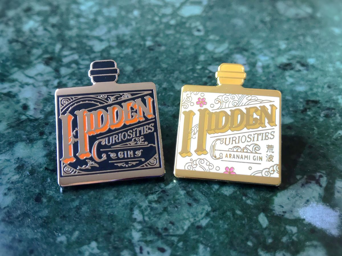 Hidden Curiosities Gin Badge - product images  of