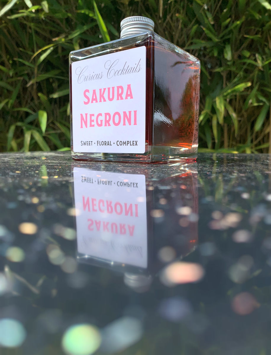 Curious Cocktails: Sakura Negroni 500ml - product images  of