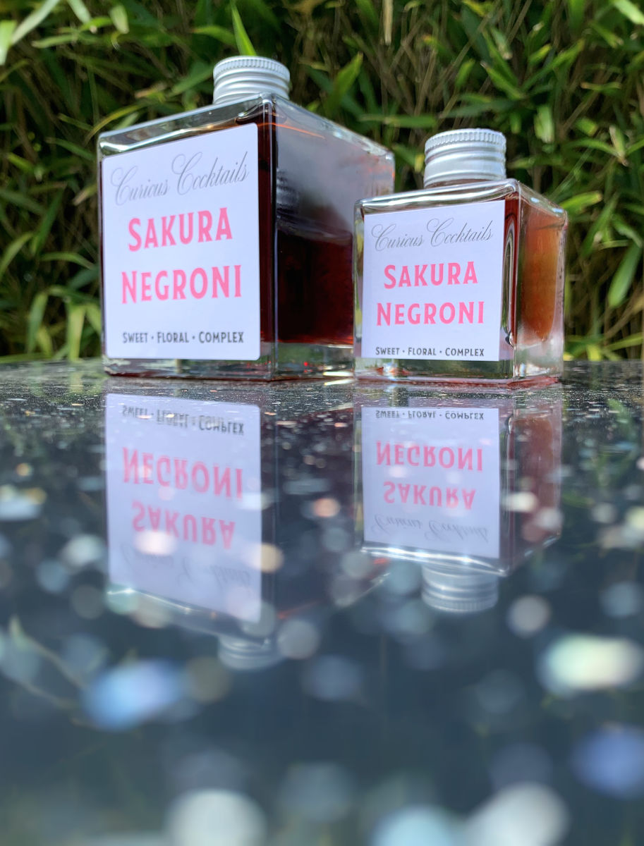 Curious Cocktails: Sakura Negroni 500ml - product image