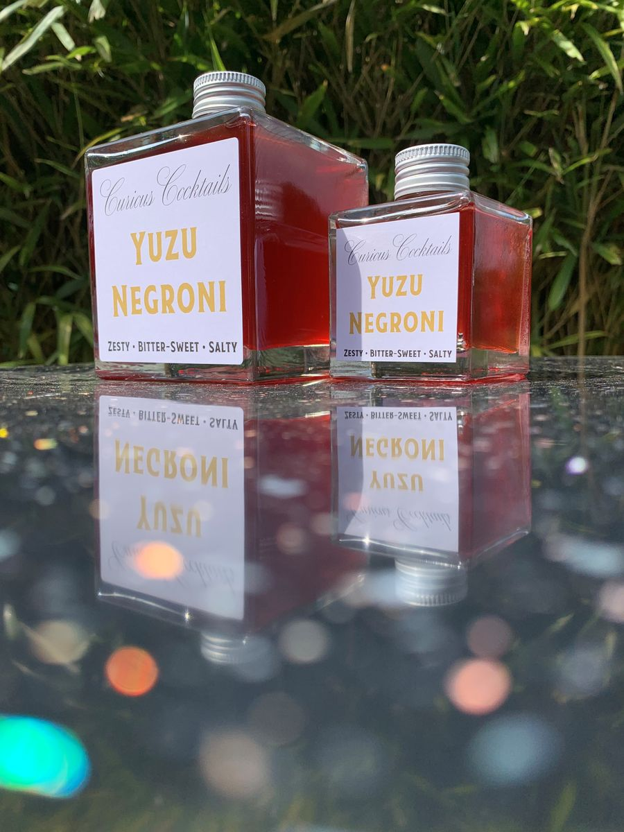 Curious Cocktails: Yuzu Negroni 500ml - product images  of