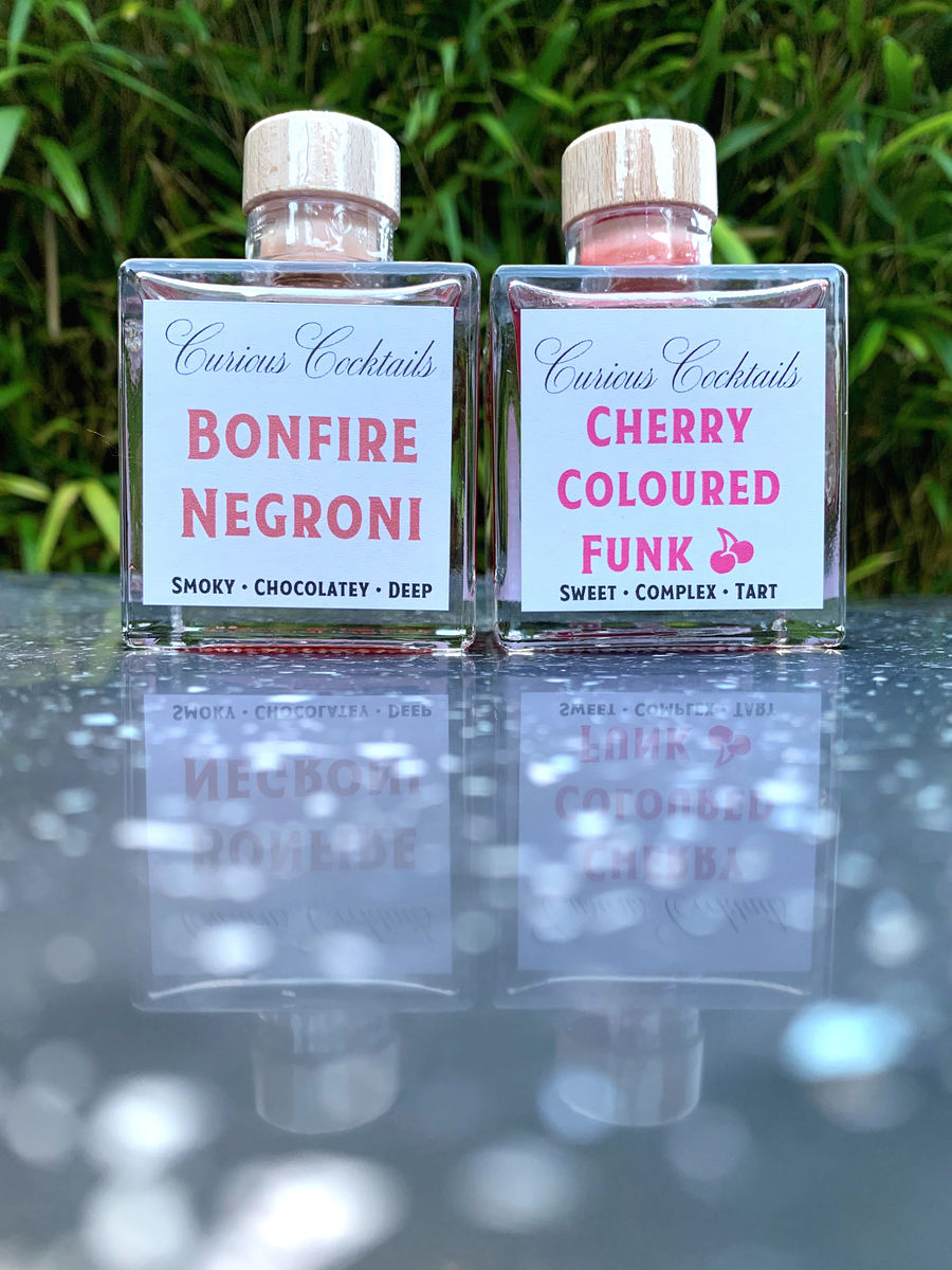 Curious Cocktails: Cherry Coloured Fire Cocktail Twin Set - product image
