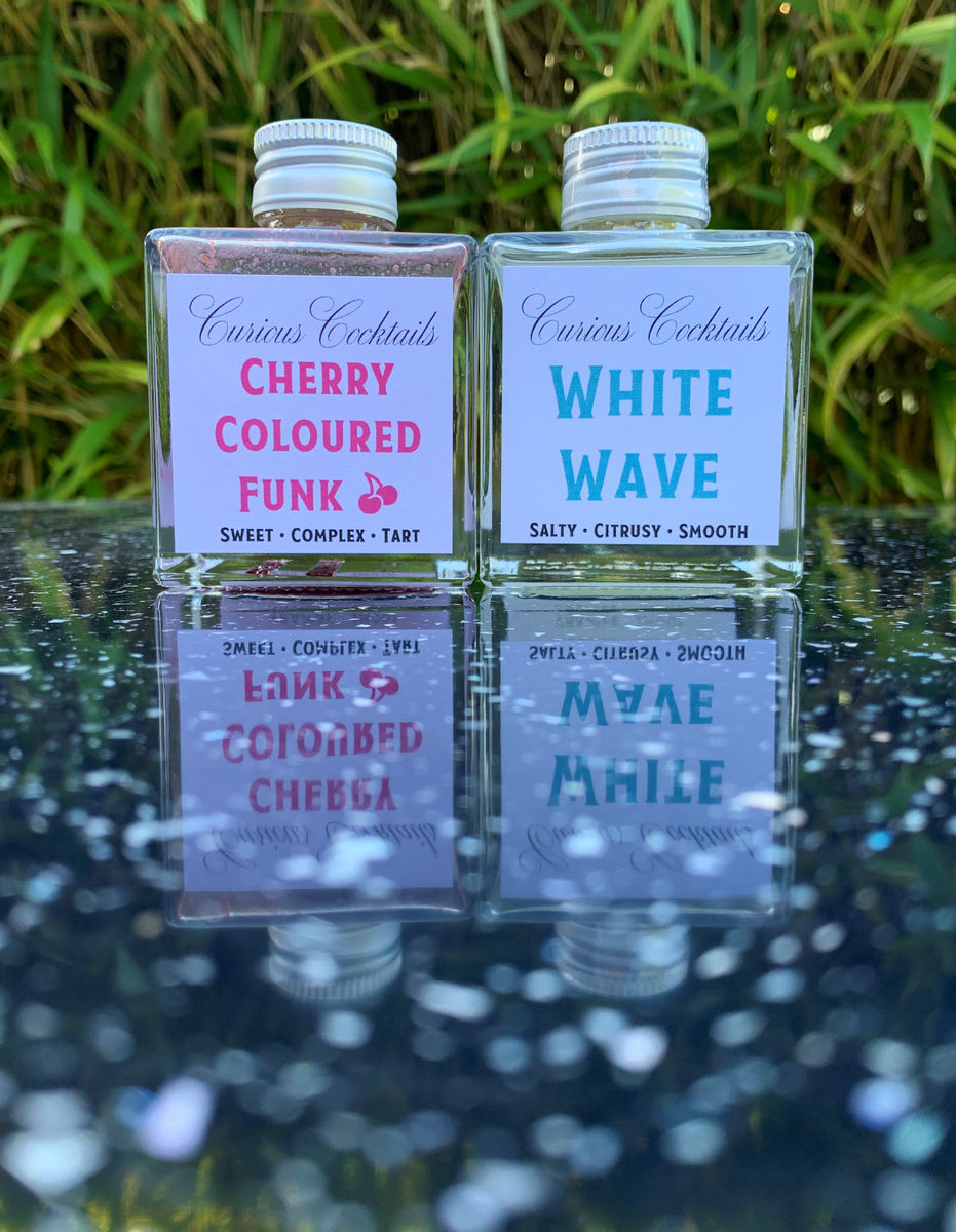Curious Cocktails: Cherry Seafoam Cocktail Twin Set - product image