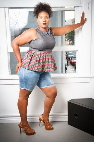 Queen,Peplum,Top, African fabric, denim