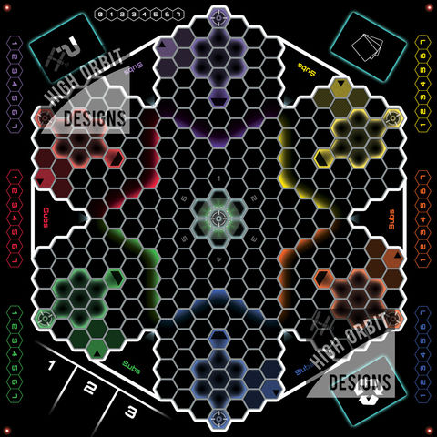 High-tech,Hexagonal,6-way,Sports,Stadium,Dreadball Ultimate 2.0 mat