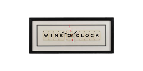 Wine,O'Clock,Clock,wine, gift, clock, home, accessories, wall, vintage, housewarming, wine lover, unique, upcycled, rustic, modern