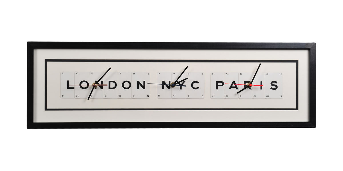 London NYC Paris Clock - product image