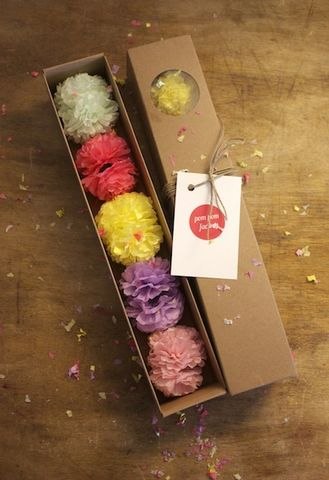 Blossom,Pom,Box,paper, pom pom, decorations, mini, pastels, cute, nursery, decor, kids, room, wedding, christmas