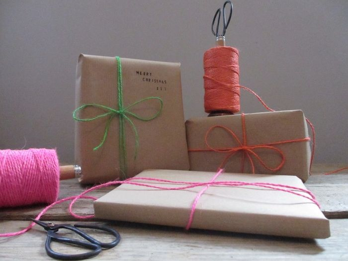 Neon Twine & Reclaimed Bobbin Holder With Scissors - product images  of