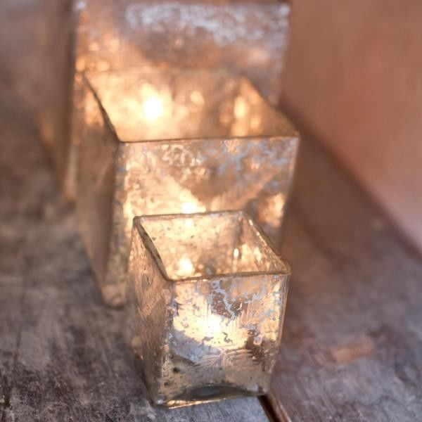 Recycled Glass T Light Holder - product images  of