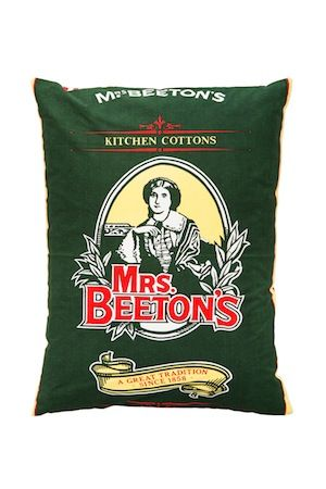Upcycled Mrs Beeton cushion - product images  of