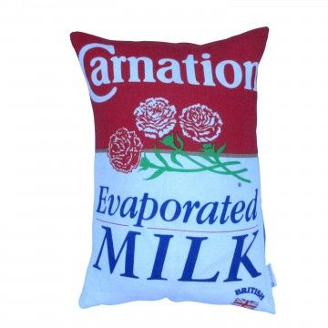 Upcycled Carnation Milk Advertising Cushion - product image