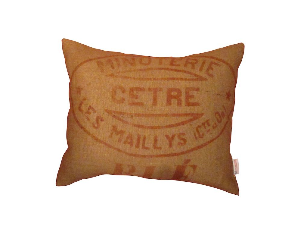 Upcycled French Grain Sack Cushion - product images  of