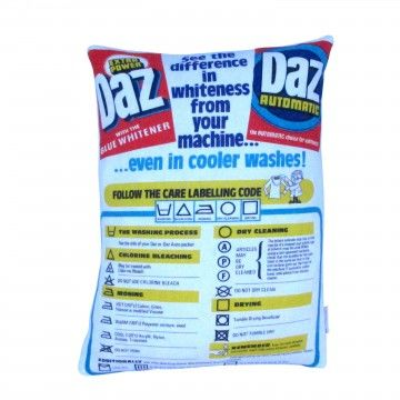 Upcycled Daz Advertising Cushion - product image