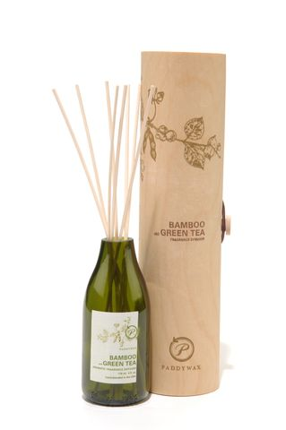 Bamboo,and,Green,Tea,Scented,Reed,Diffuser,scented, natural, reed, diffuser, gift, packaging, eco, recycled, upcycled, beautiful, housewarming, birthday, christmas, bamboo, green tea. paddywax