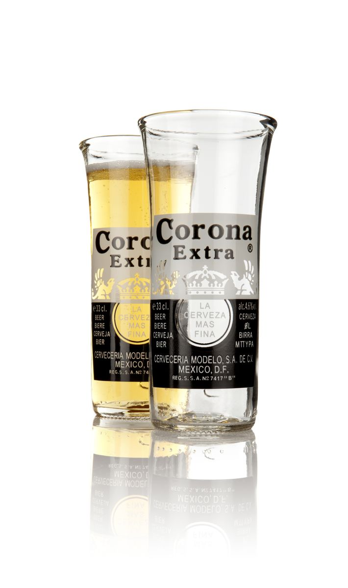 Corona Extra Upcycled Mexican Beer Glasses - product image