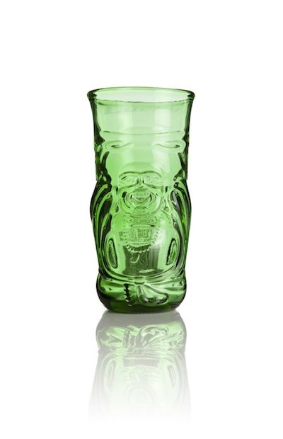Lucky Buddha Upcycled Chinese Beer Glass - product images  of