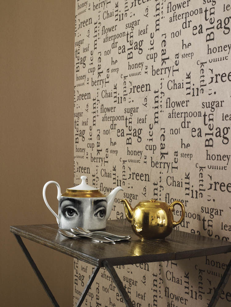 Tea Leaves Handmade Recycled Wallpaper - product image