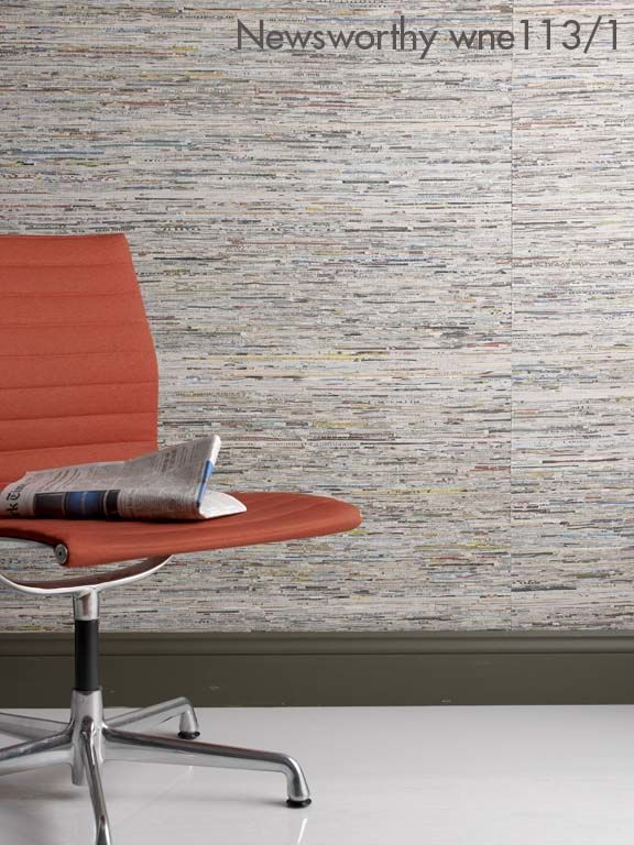 Newsworthy Handmade Recycled Wallpaper - product image