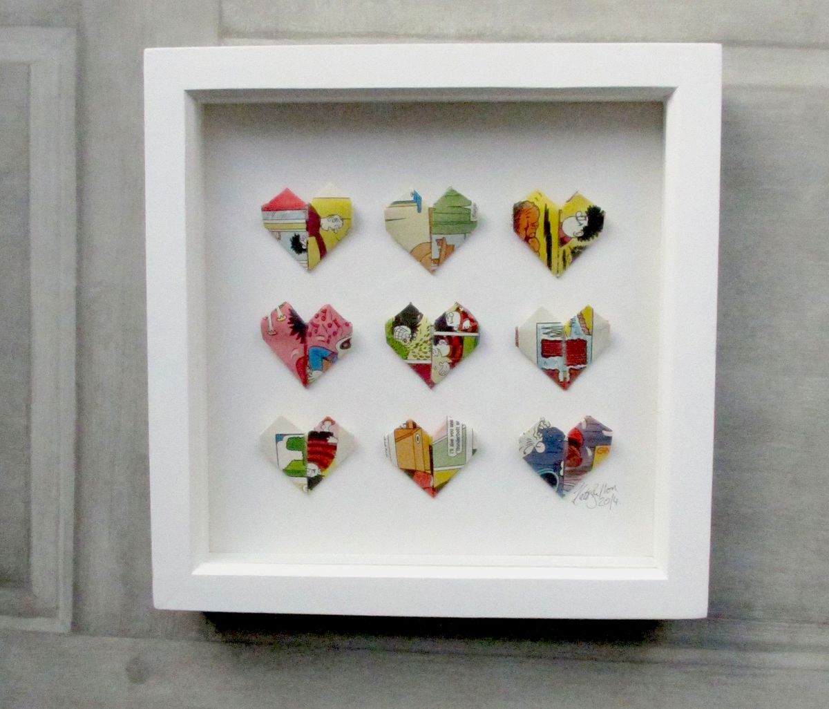 Paper Heart Wall Art - product image