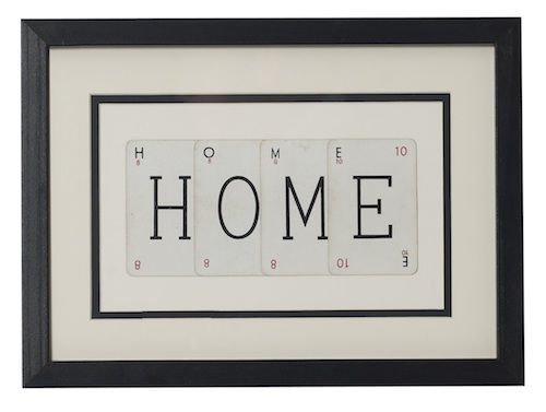 HOME vintage playing card frame - product images  of