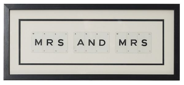 MRS & MRS vintage playing card frame - product image