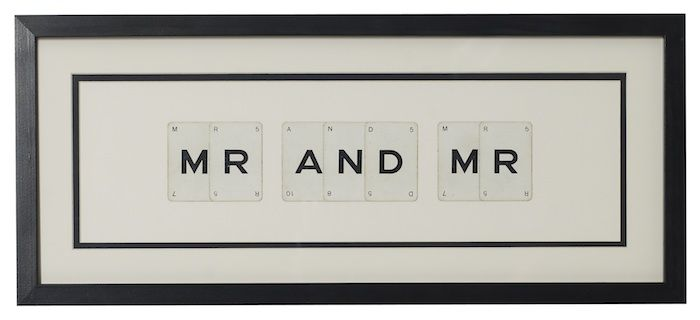 MR & MR vintage playing card frame - product image