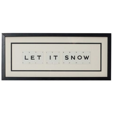 Let,It,Snow,vintage,playing,card,frame,let, it, snow, vintage, playing, card, frame, art, quote, winter, christmas, decor, decoration, gift, unique, handmade, upcycled, monochrome, black, white