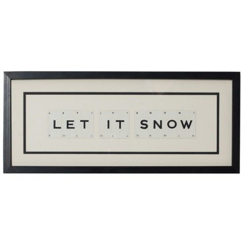 Let It Snow vintage playing card frame - product image
