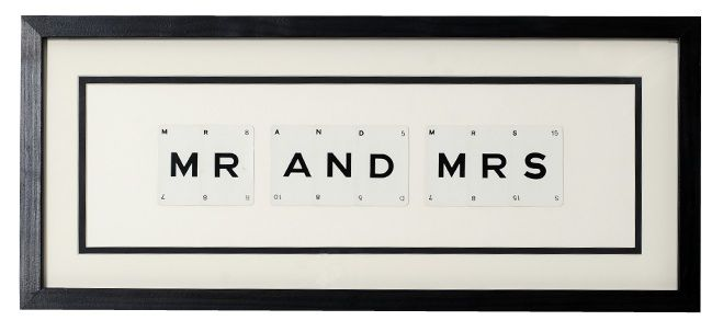 MR & MRS vintage playing card frame - product image