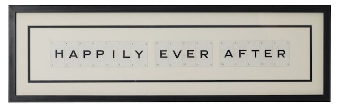 Happily Ever After vintage playing card frame - product image