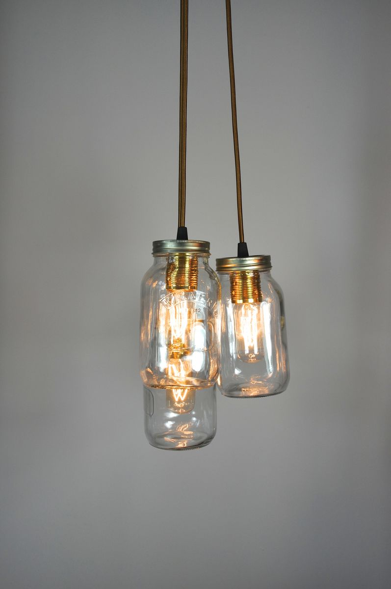 3 jam jar chandelier little mill house 3 jam jar chandelier product images of arubaitofo Choice Image